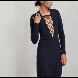Reformation Edison lace up mini dress sz xs